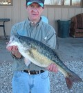Erik Atkins of Lubbock caught this 5.62-pound spotted bass in January 2011 from Lake Alan Henry