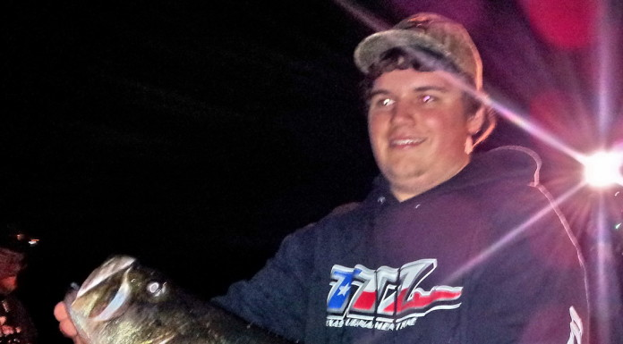 Colin Pack, of Round Rock, caught Toyota ShareLunker 548 on March 27 from Lake Austin.