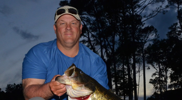 Allen Lane Kruse, of Nacogdoches, caught the fish of a lifetime April 13 from Lake Naconiche