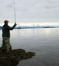Fly fishing in Alaska a dream come true -- complete with big fish.