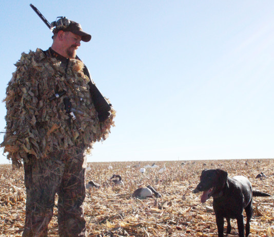 Goose hunting in the Panhandle most often is done in new growth winter wheat or harvested crop fields.