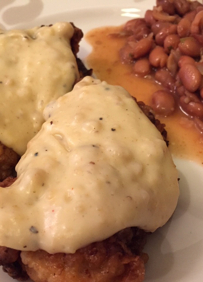 Chicken-fried steak in Texas with venison twist